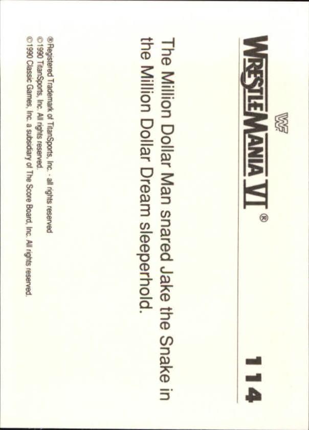 1990-Classic-WWF-History-of-WrestleMania-A3974-You-Pick-10-FREE-SHIP thumbnail 197