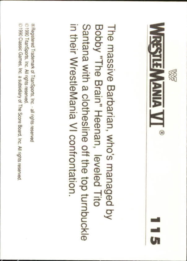 1990-Classic-WWF-History-of-WrestleMania-A3974-You-Pick-10-FREE-SHIP thumbnail 199