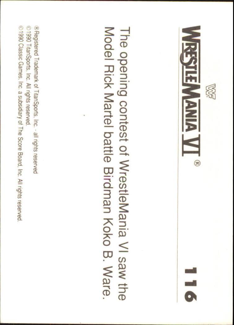 1990-Classic-WWF-History-of-WrestleMania-A3974-You-Pick-10-FREE-SHIP thumbnail 201