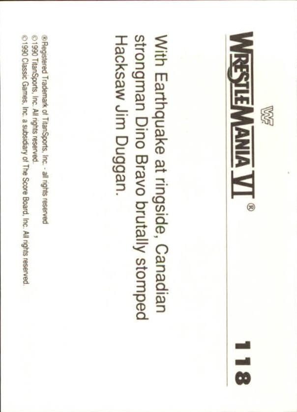 1990-Classic-WWF-History-of-WrestleMania-A3974-You-Pick-10-FREE-SHIP thumbnail 205
