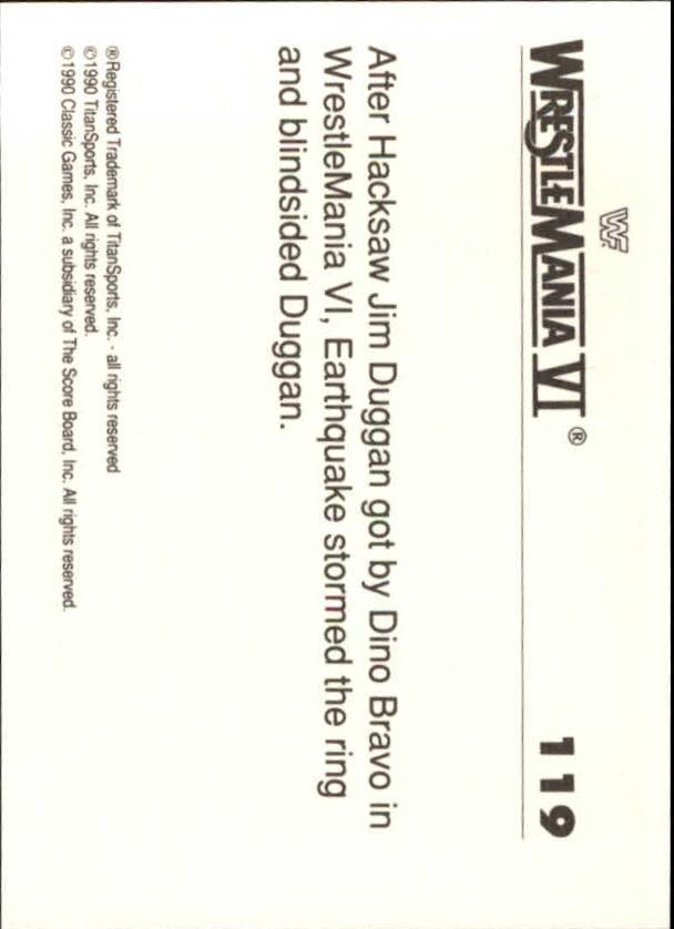 1990-Classic-WWF-History-of-WrestleMania-A3974-You-Pick-10-FREE-SHIP thumbnail 207