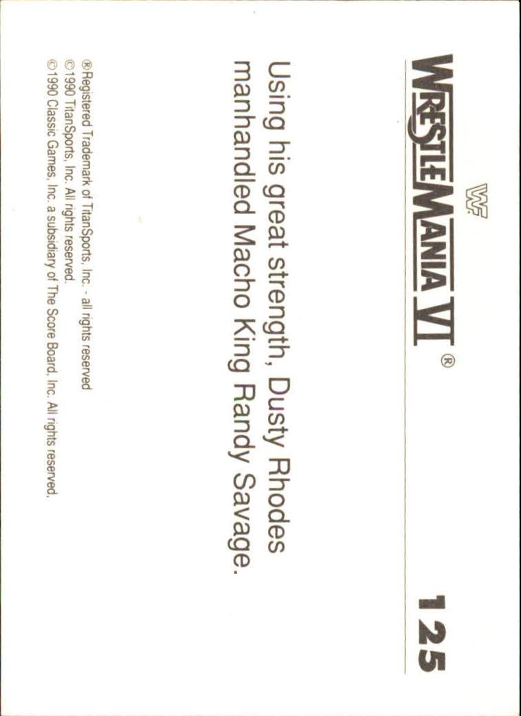 1990-Classic-WWF-History-of-WrestleMania-A3974-You-Pick-10-FREE-SHIP thumbnail 219