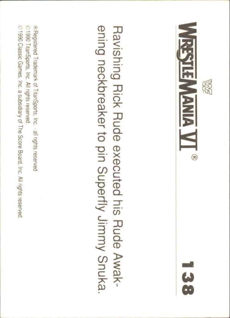 1990-Classic-WWF-History-of-WrestleMania-A3974-You-Pick-10-FREE-SHIP thumbnail 241