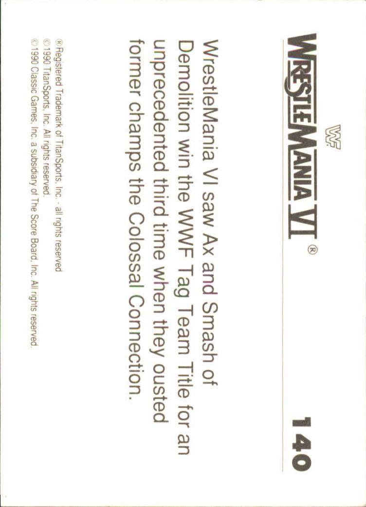 1990-Classic-WWF-History-of-WrestleMania-A3974-You-Pick-10-FREE-SHIP thumbnail 243