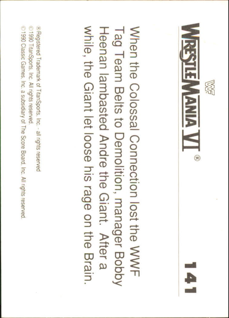 1990-Classic-WWF-History-of-WrestleMania-A3974-You-Pick-10-FREE-SHIP thumbnail 245