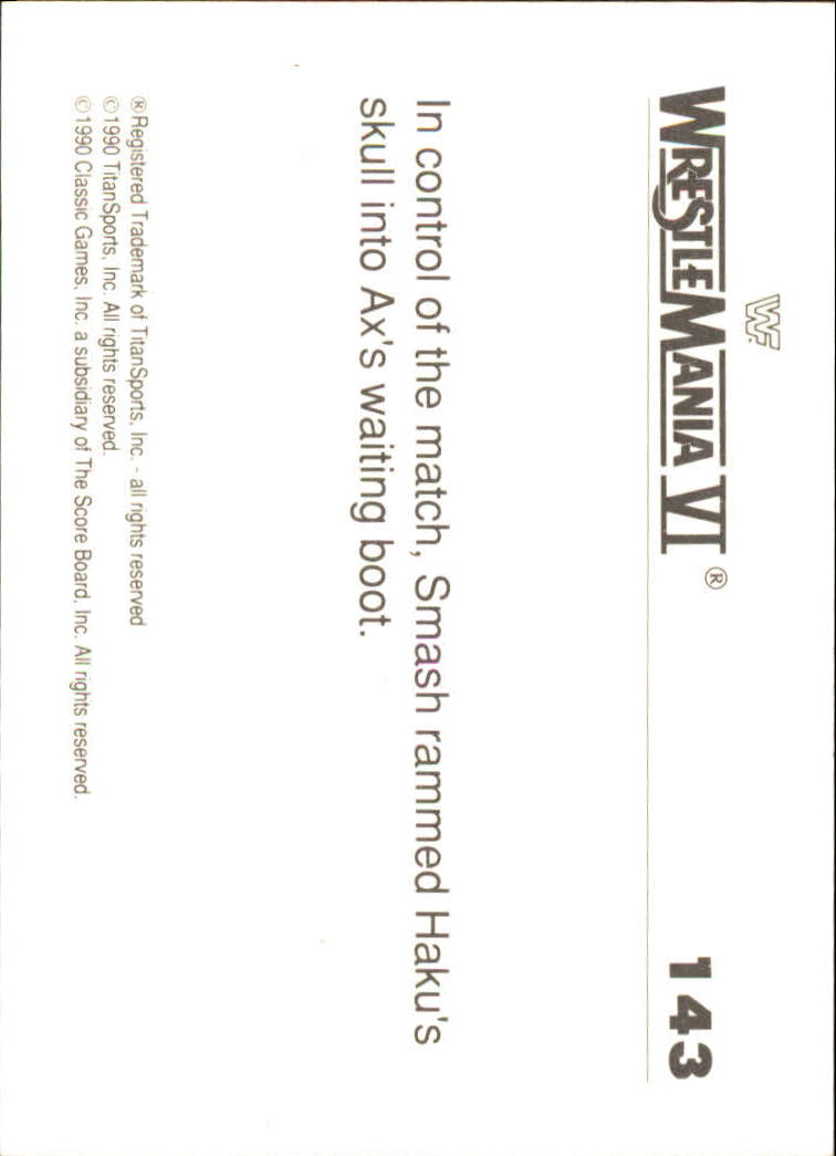 1990-Classic-WWF-History-of-WrestleMania-A3974-You-Pick-10-FREE-SHIP thumbnail 249