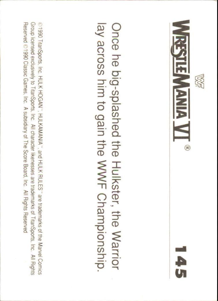 1990-Classic-WWF-History-of-WrestleMania-A3974-You-Pick-10-FREE-SHIP thumbnail 251