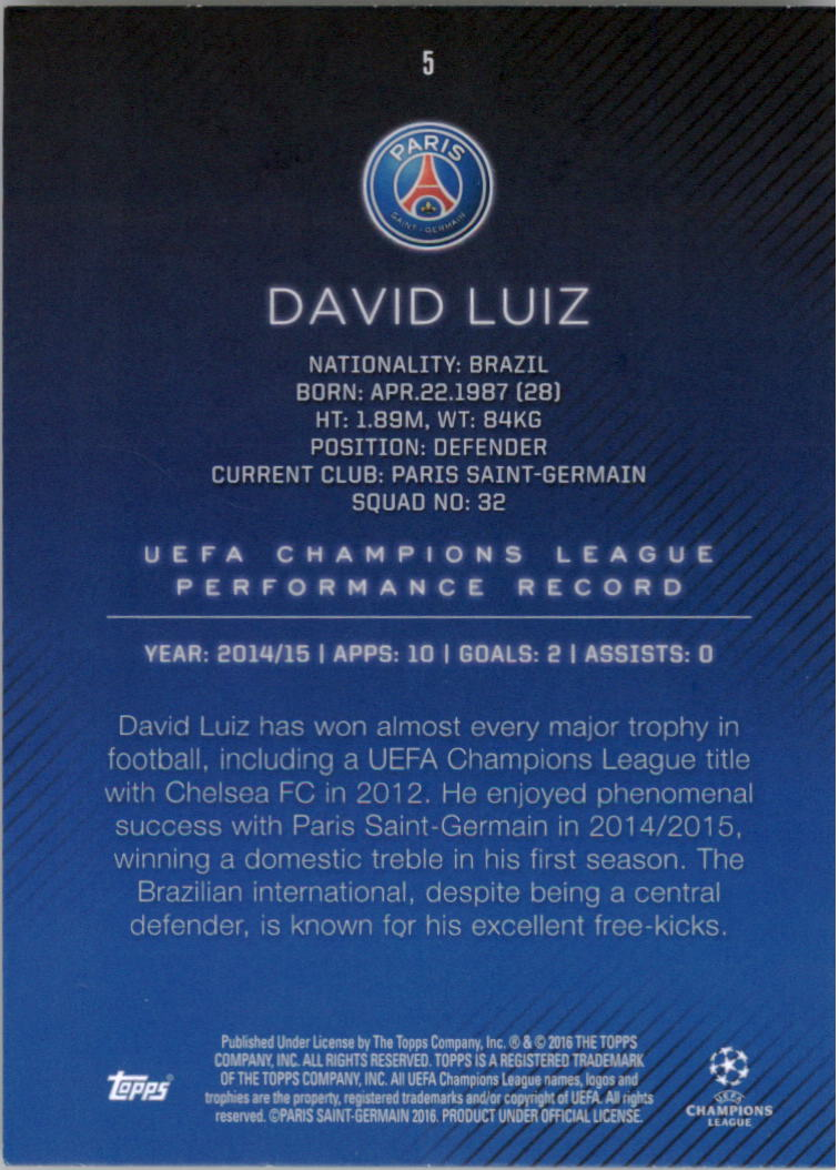 2015-16-Topps-UEFA-Champions-League-Showcase-Soccer-Your-Choice-GOTBASEBALLCARDS thumbnail 9