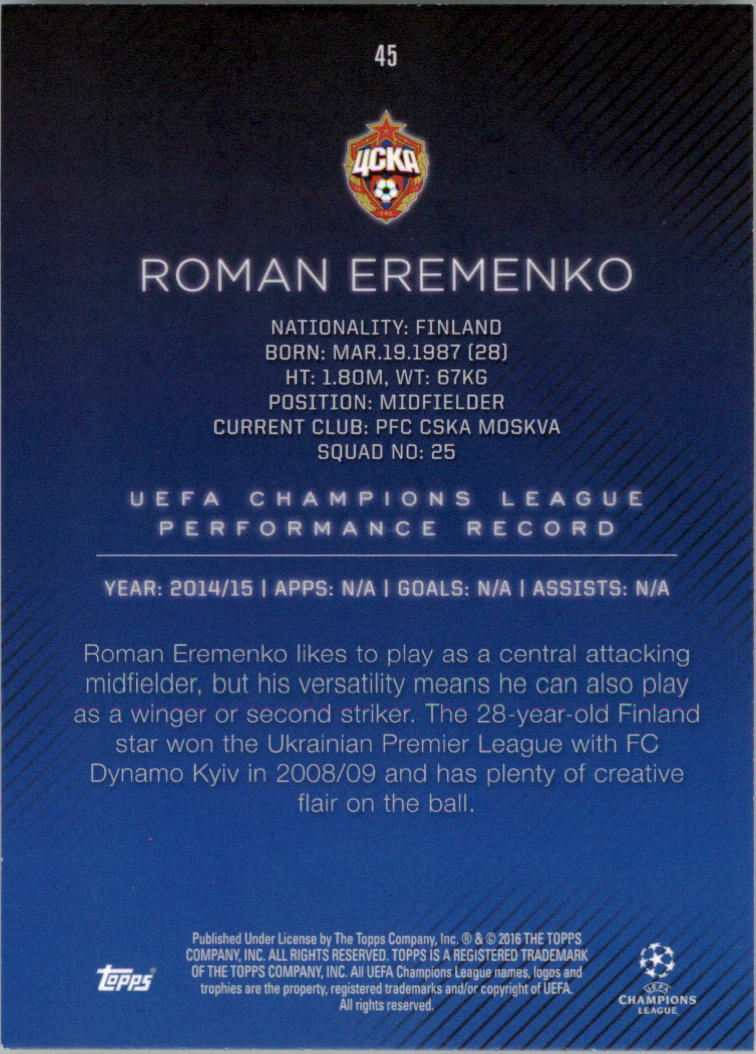 2015-16-Topps-UEFA-Champions-League-Showcase-Soccer-Your-Choice-GOTBASEBALLCARDS thumbnail 89