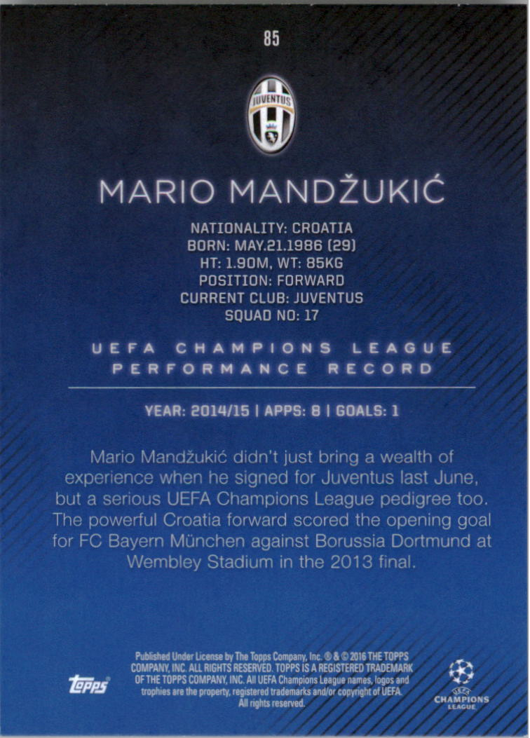 2015-16-Topps-UEFA-Champions-League-Showcase-Soccer-Your-Choice-GOTBASEBALLCARDS thumbnail 169