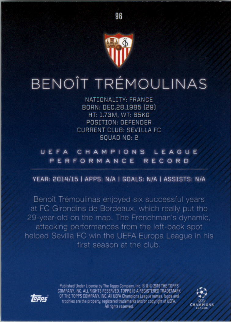2015-16-Topps-UEFA-Champions-League-Showcase-Soccer-Your-Choice-GOTBASEBALLCARDS thumbnail 191