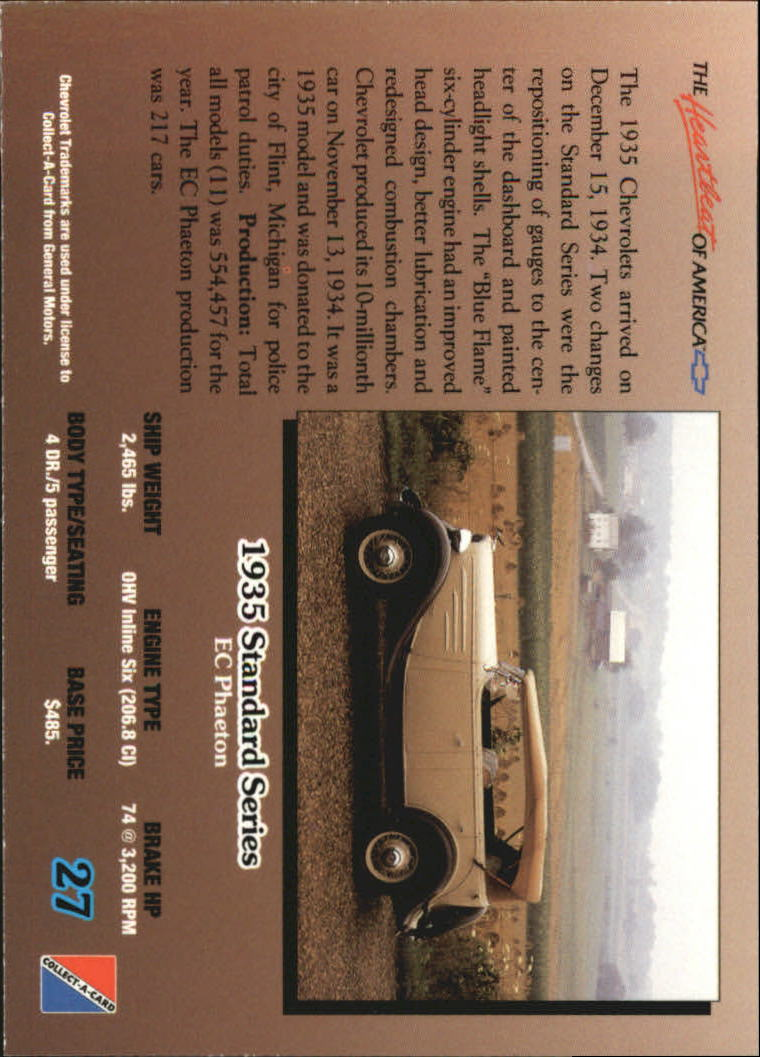 1992-Chevy-Auto-Collect-A-Card-s-1-100-A3222-You-Pick-10-FREE-SHIP miniature 55