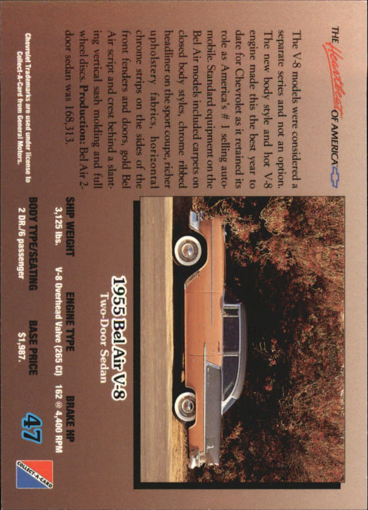1992-Chevy-Auto-Collect-A-Card-s-1-100-A3222-You-Pick-10-FREE-SHIP miniature 95