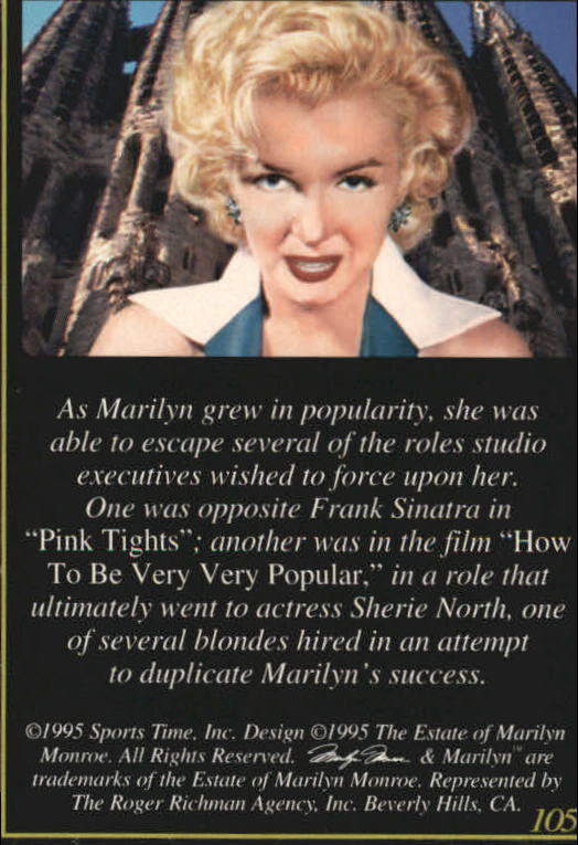 NEW YOU CHOOSE THE PRIVATE COLLECTION 1992 STORY CARD S MARILYN MONROE