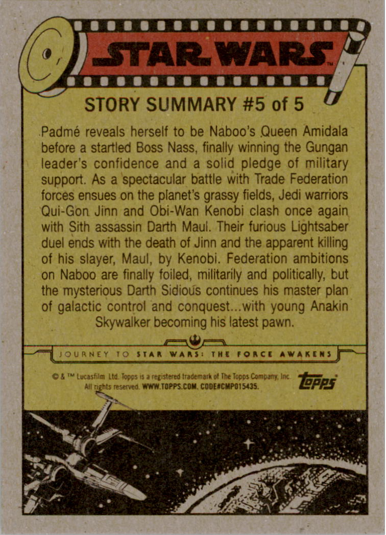 2015-Star-Wars-Journey-to-The-Force-Awakens-Black-Trading-Card-Pick miniature 11