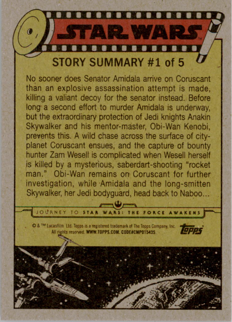 2015-Star-Wars-Journey-to-The-Force-Awakens-Black-Trading-Card-Pick miniature 13