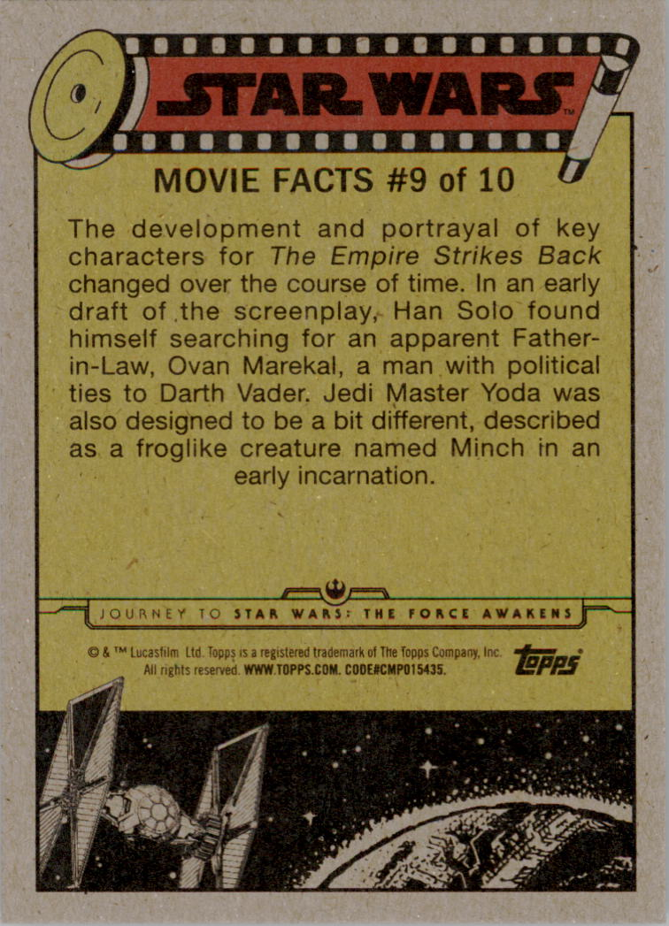 2015-Star-Wars-Journey-to-The-Force-Awakens-Black-Trading-Card-Pick miniature 119