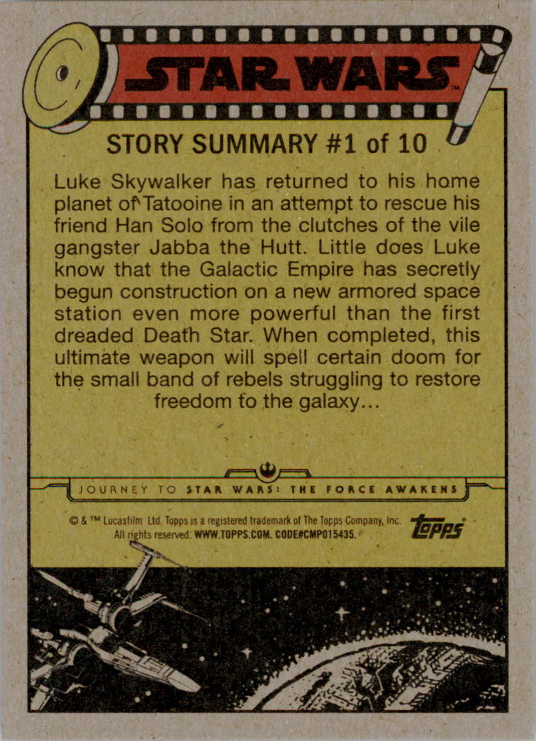2015-Star-Wars-Journey-to-The-Force-Awakens-Black-Trading-Card-Pick miniature 123
