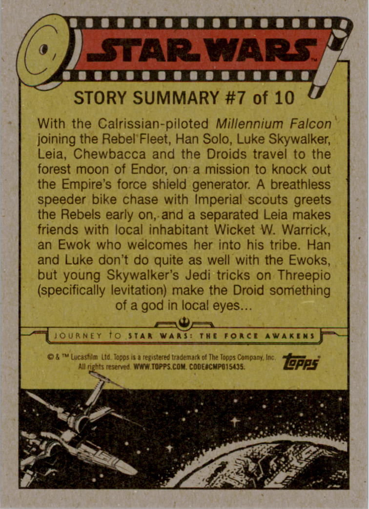 2015-Star-Wars-Journey-to-The-Force-Awakens-Black-Trading-Card-Pick miniature 135