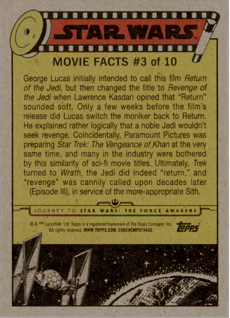 2015-Star-Wars-Journey-to-The-Force-Awakens-Black-Trading-Card-Pick miniature 147