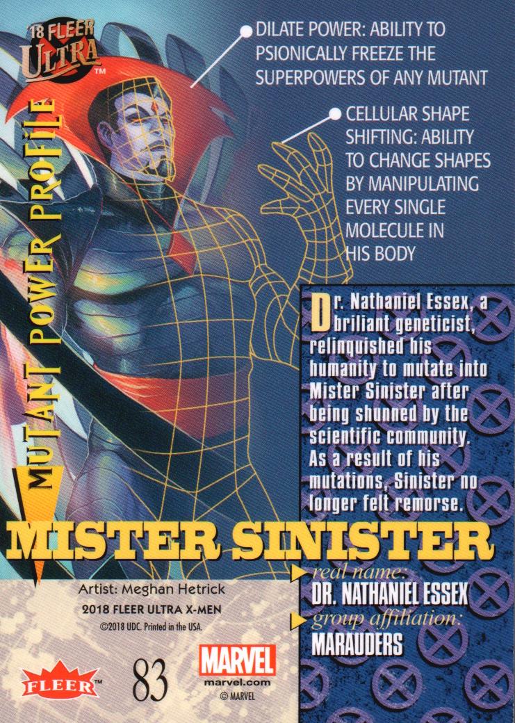 2018-Fleer-Ultra-X-Men-Trading-Cards-Base-Set-Pick-From-List miniature 147