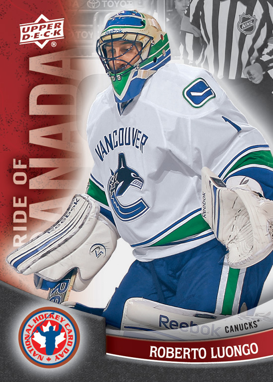 2012 National Hockey Card Day Canada Roberto Luongo 8 Beckett News