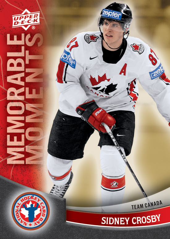 2012 National Hockey Card Day Canada Sidney Crosby Memorable Moments