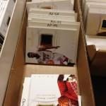 Cards awaiting their future autos.