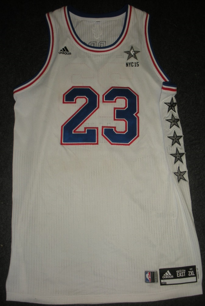 wholesale dealer 8c694 7f414 LeBron James Leads NBA All-Star Jersey Auction - Beckett News