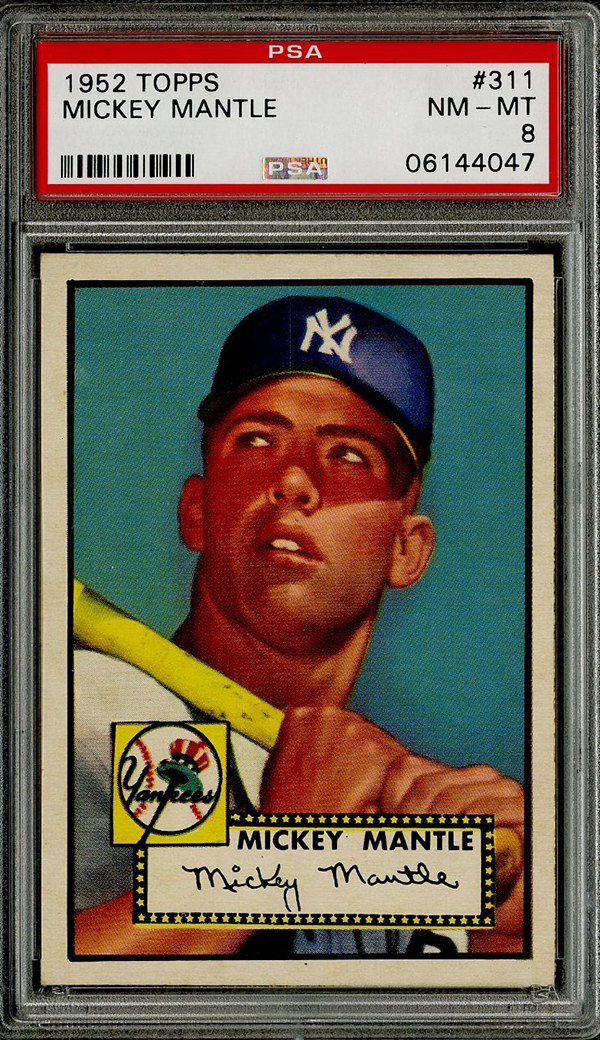 The 400000 1952 Topps Mickey Mantle And Other Top Sales