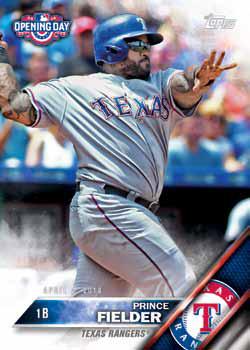 2016 Topps Opening Day Baseball Base Prince Fielder Beckett News