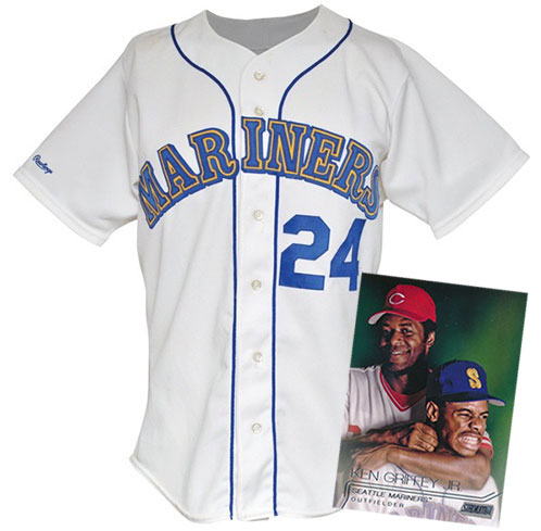 low priced 6df6a eda54 Game-worn Ken Griffey Jr. Rookie Jersey Up for Auction