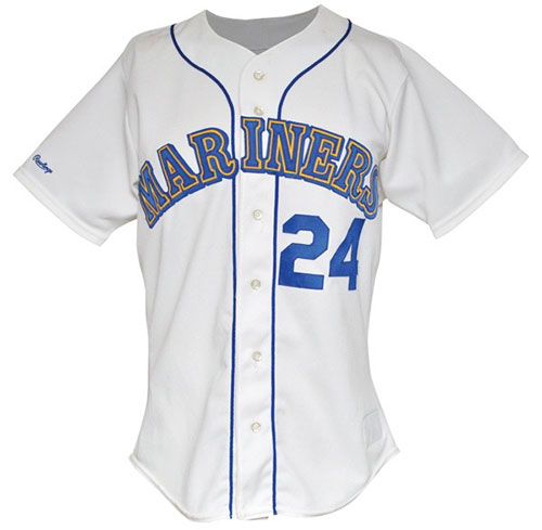 low priced 2d600 31e60 Game-worn Ken Griffey Jr. Rookie Jersey Up for Auction