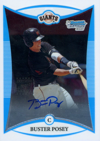 2008 Bowman Chrome Draft Buster Posey Autograph