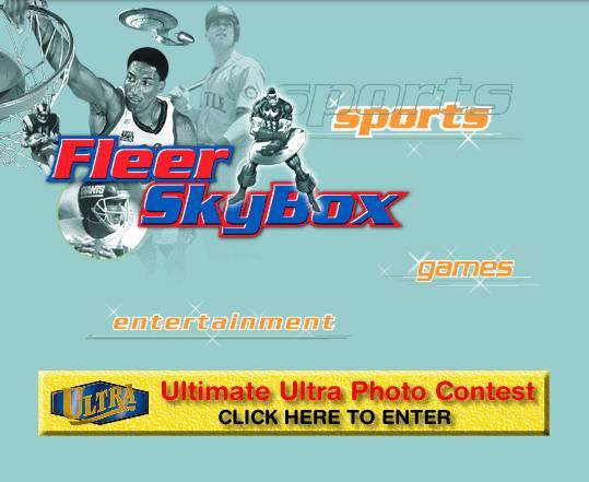 Fleer Website 1998 Home Page