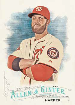 6f9969b0f 2016 Topps Allen and Ginter Baseball Checklist