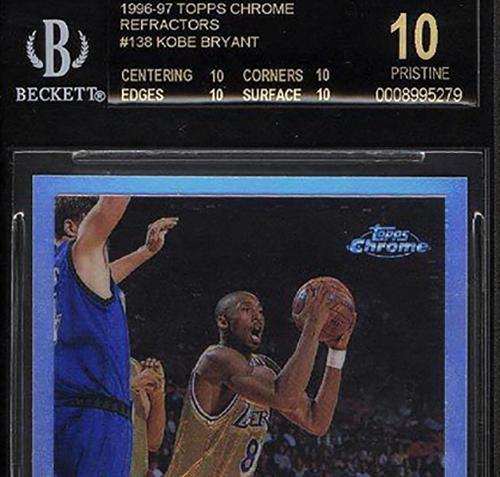 Bgs 10 96 97 Topps Chrome Refractor Kobe Bryant Tops 40k