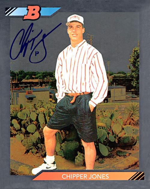 1991 Bowman Chipper Jones Autographed Superfractor Made
