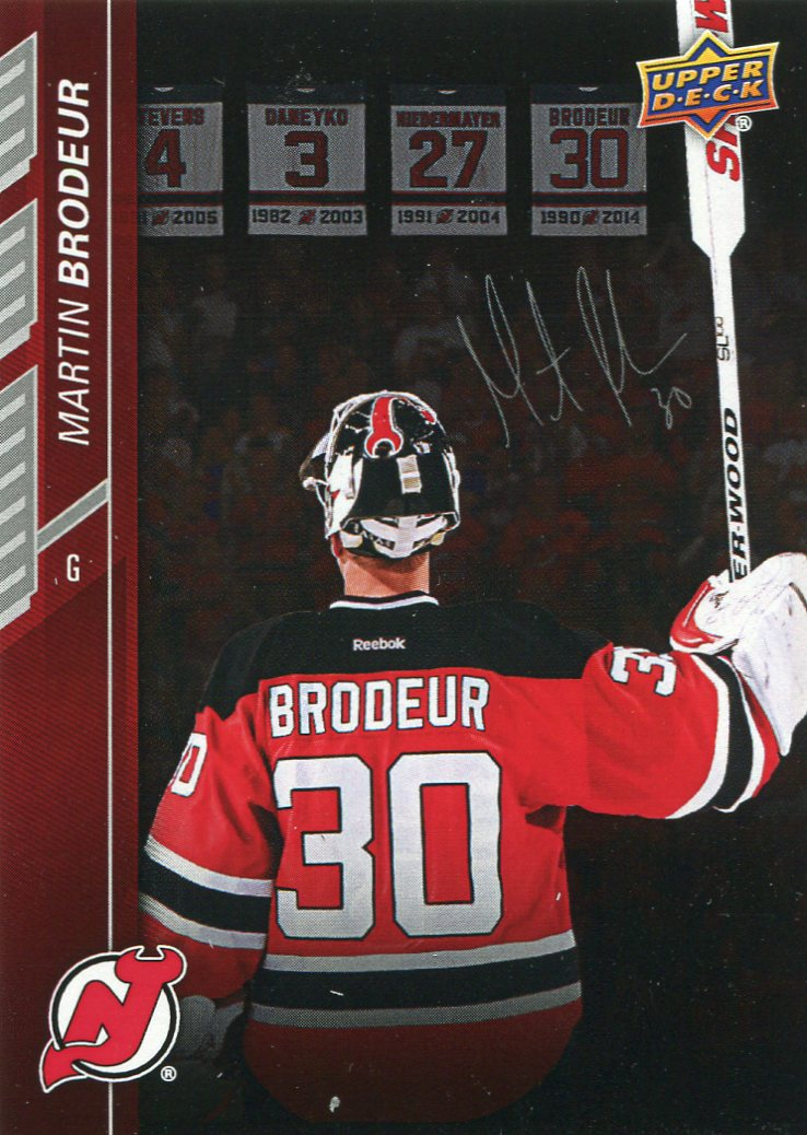 f0f2a2dbf Upper Deck pays tribute to Martin Brodeur retirement night