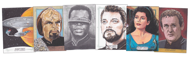 2016 Star Trek: TNG Portfolio Prints Series 2 Trading Cards