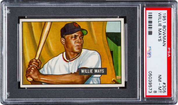 1952 Topps Willie Mays Sells For 478000 At Heritage Auctions
