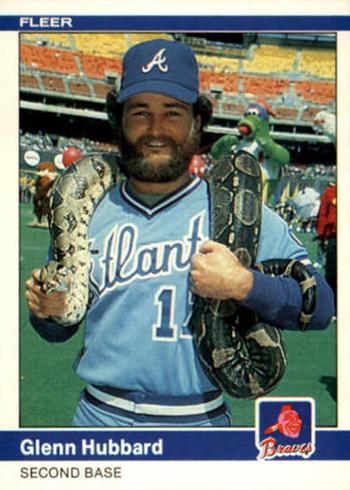 1984 Fleer Glenn Hubbard Snake