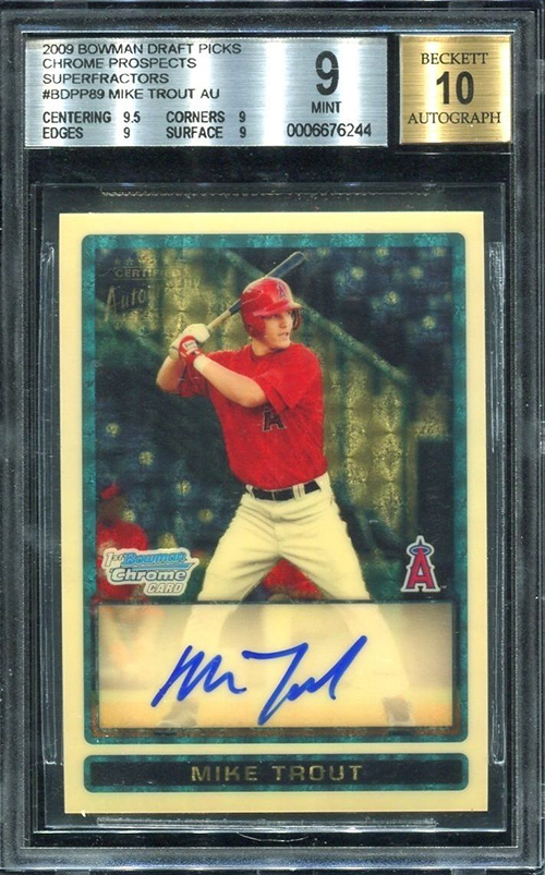 2009 Bowman Chrome Mike Trout Superfractor Autograph Sells