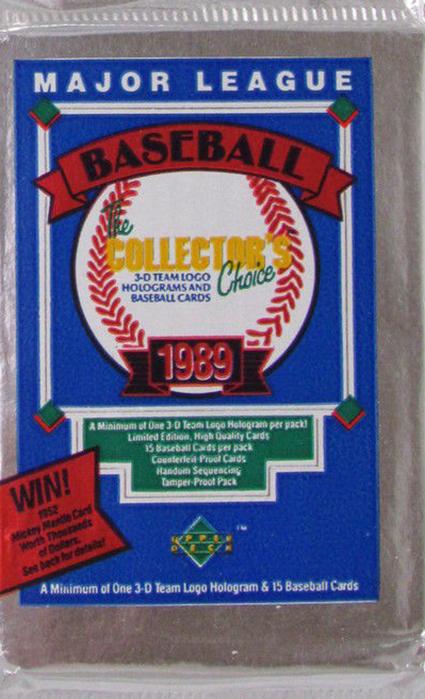 ade2135443 1989 Upper Deck Ken Griffey Jr. Rookie Card History