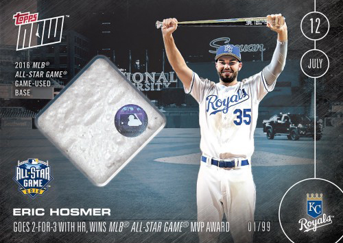 2016 Topps Now Baseball Introduces Relic Cards