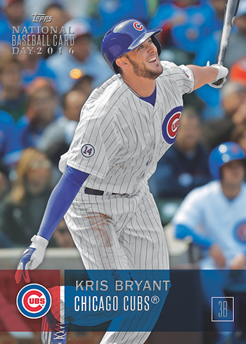 2016 Topps National Baseball Card Day Checklist Details