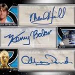 2017 Topps Star Wars Galactic Files Reborn Triple Autograph Hamill Baker Daniels