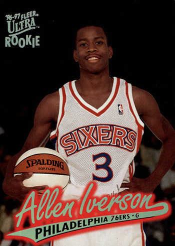 the best attitude 916ae d9e1d Ranking the Most Valuable Allen Iverson Rookie Cards