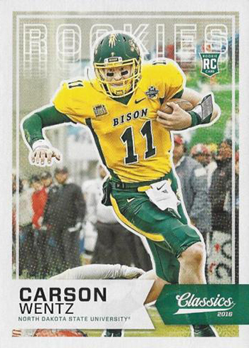 competitive price 9d11e 1ad5a Most Valuable Carson Wentz Rookie Card Rankings