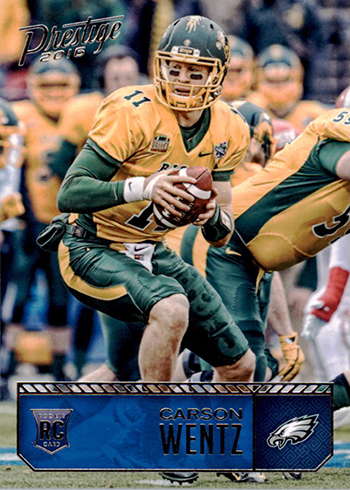 Most Valuable Carson Wentz Rookie Card Rankings